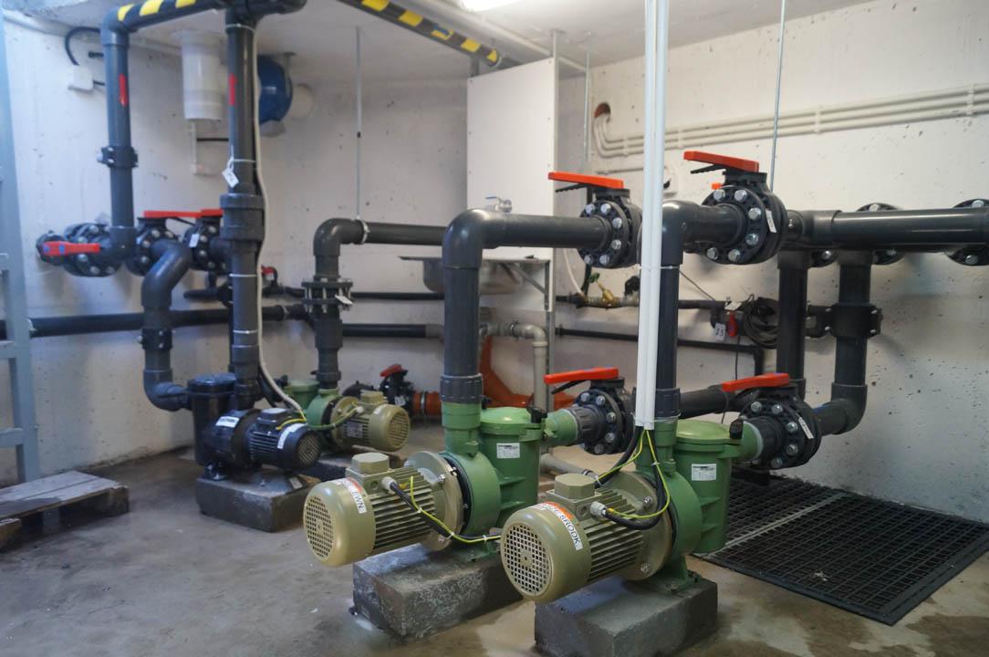 zdjęcie instalacji basenowej część technologii